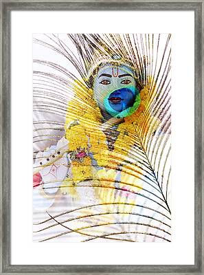 Lord Krishna Framed Print by Tim Gainey