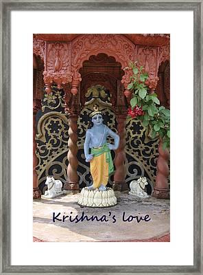 Lord Krishna Framed Print by Vijay Sharon Govender