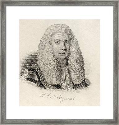Lord Lloyd Kenyon, 1st Baron Kenyon Framed Print by Vintage Design Pics