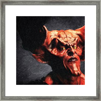 Lord Of Darkness Framed Print