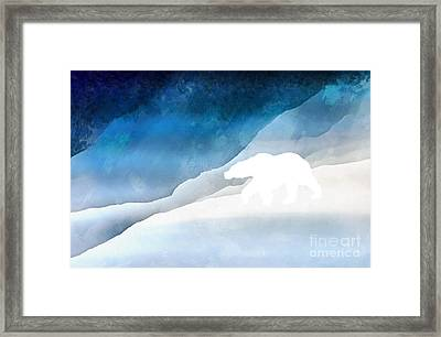 Lord Of The Arctic Framed Print by Edward Fielding