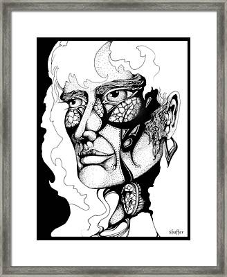 Framed Print featuring the drawing Lord Of The Flies Study by Curtiss Shaffer