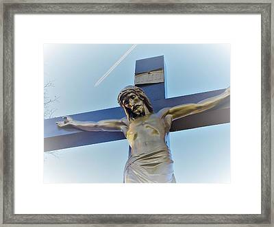 Lord Of The Flight - Jesus On The Cross Framed Print