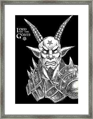 Lord Of The Goats Framed Print