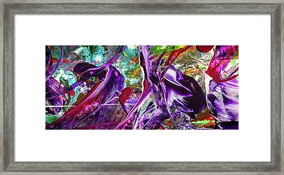 Lord Of The Rings Art - Colorful Modern Abstract Painting Framed Print