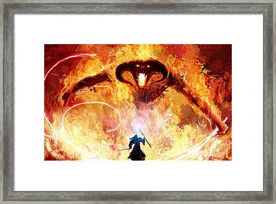 Lord Of The Rings Balrog Framed Print