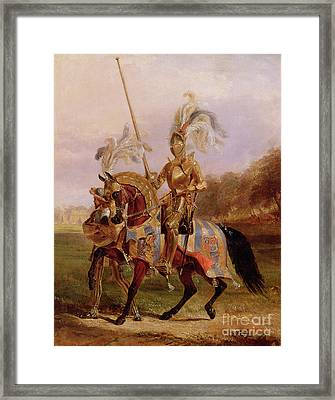 Lord Of The Tournament Framed Print by Edward Henry Corbould