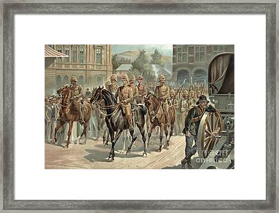 Lord Roberts Entry Into Pretoria Framed Print by Richard Caton Woodville