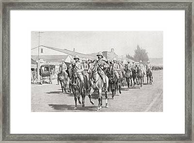 Lord Roberts, Lord Kitchener And Staff Framed Print by Vintage Design Pics