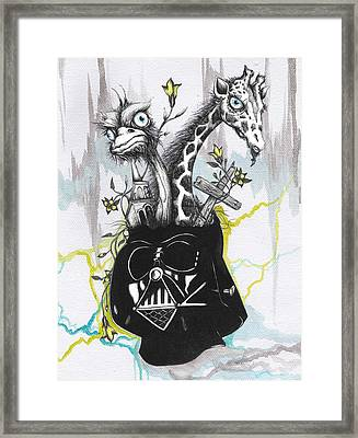 Lord Vader's Happy Place Framed Print by Tai Taeoalii