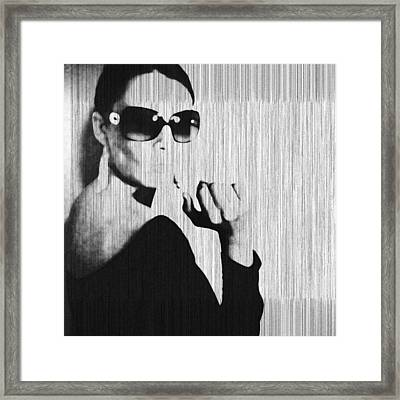 Loren Black Framed Print