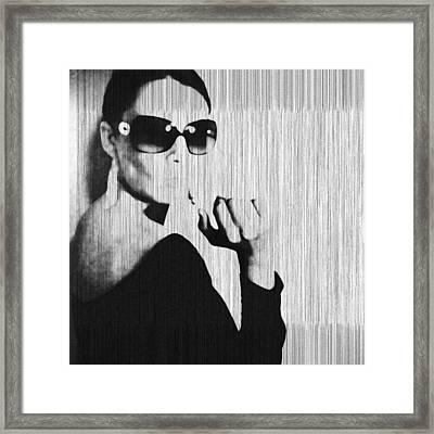 Loren Black Framed Print by Naxart Studio
