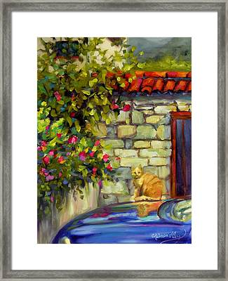 Framed Print featuring the painting Lorenzo by Chris Brandley