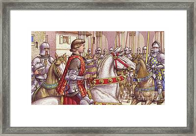 Lorenzo De Medici Reviews Loyal Soldiers In Florence's Piazza Di Signoria Framed Print by Pat Nicolle
