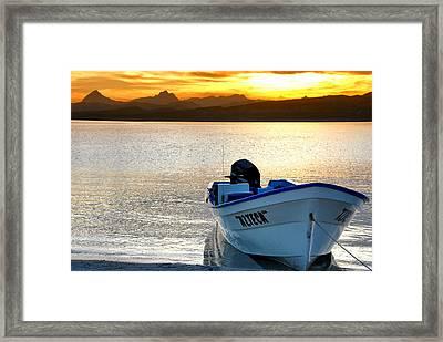 Loreto Panga At Sunset Framed Print by Scott Massey