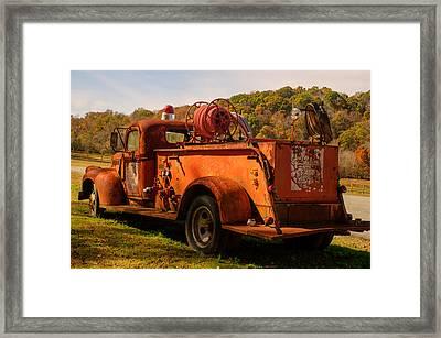 Loretta Lynn Firetruck Framed Print by Douglas Barnett
