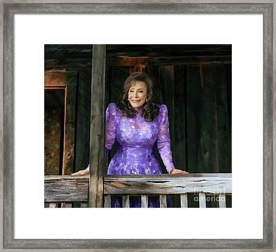 Loretta Lynn Framed Print by Garland Johnson