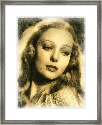 Loretta Young, Actress Framed Print by John Springfield