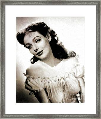 Loretta Young, Vintage Actress Framed Print