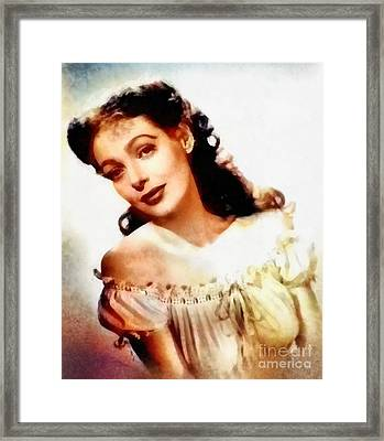 Loretta Young, Vintage Hollywood Actress Framed Print