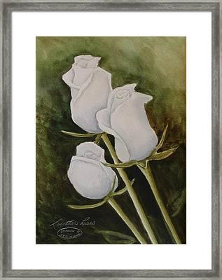 Lorettas Roses Framed Print by Sharon Steinhaus
