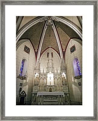Framed Print featuring the photograph Loretto Chapel Santa Fe by Kurt Van Wagner