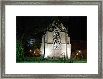 Loretto Church In Santa Fe Framed Print