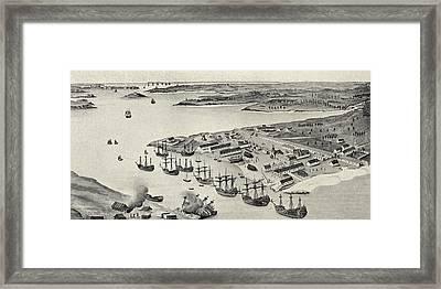 Lorient Port, Brittany, France Framed Print by Vintage Design Pics
