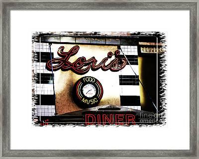 Lori's Diner Framed Print