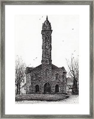 Lorne And Lowland Parish Church Framed Print by Vincent Alexander Booth