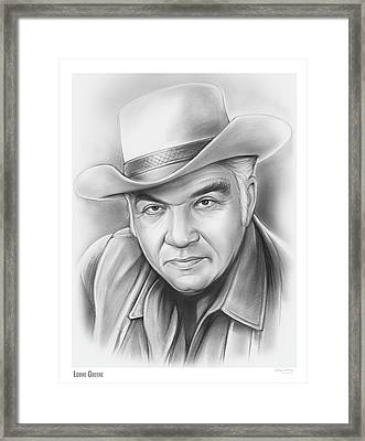 Lorne Greene Framed Print