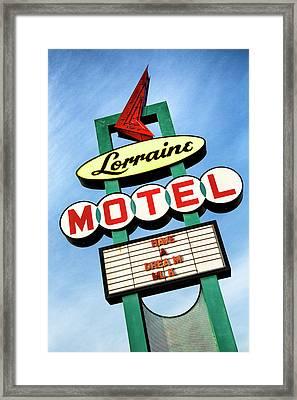 Lorraine Motel Sign Framed Print