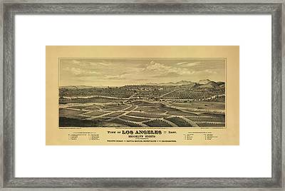 Los Angeles 1877 Framed Print by Mountain Dreams