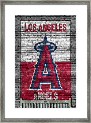 Los Angeles Angels Brick Wall Framed Print