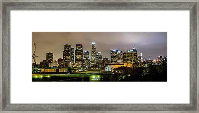 Los Angeles At Night Framed Print by April Reppucci
