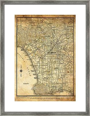 Los Angeles Framed Print by Baltzgar