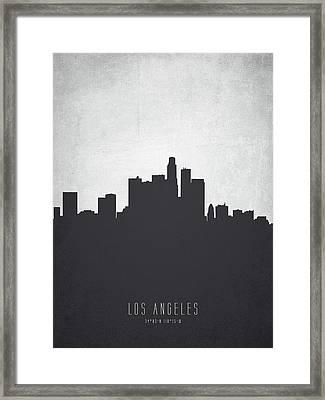 Los Angeles California Cityscape 19 Framed Print