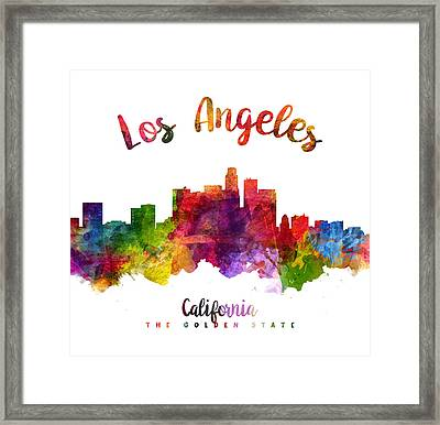 Los Angeles California Skyline 23 Framed Print