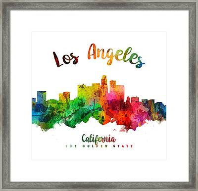 Los Angeles California Skyline 24 Framed Print