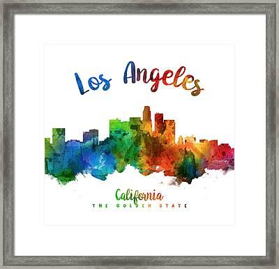 Los Angeles California Skyline 25 Framed Print