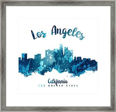 Los Angeles California Skyline 27 Framed Print