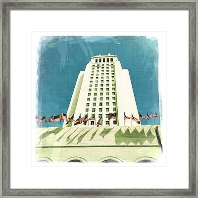 Los Angeles City Hall Framed Print