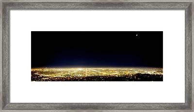 Los Angeles City Skyline Framed Print