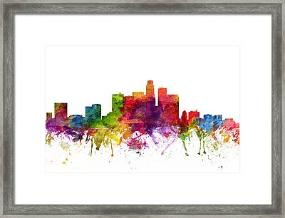 Los Angeles Cityscape 06 Framed Print by Aged Pixel