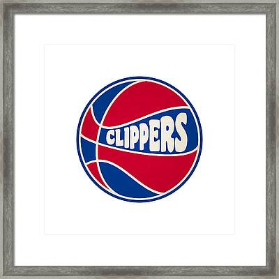 Los Angeles Clippers Retro Shirt Framed Print