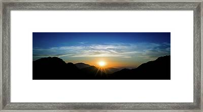 Framed Print featuring the photograph Los Angeles Desert Mountain Sunset by T Brian Jones