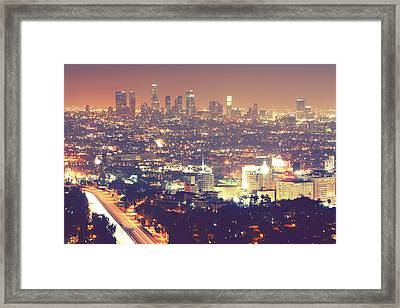 Los Angeles Framed Print by Dj Murdok Photos
