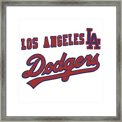 Los Angeles Dodgers Framed Print by Gina Dsgn