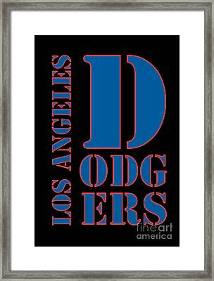 Los Angeles Dodgers Typography Framed Print by Pablo Franchi
