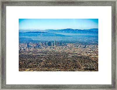 Los Angeles From Above Framed Print by Art K